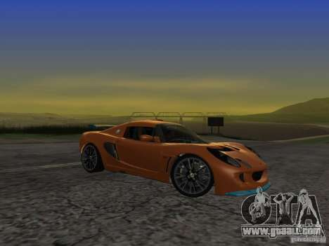 Lotus Exige for GTA San Andreas back view