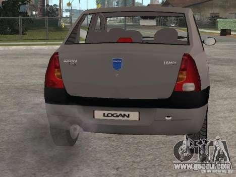 Dacia Logan 1.6 for GTA San Andreas back view