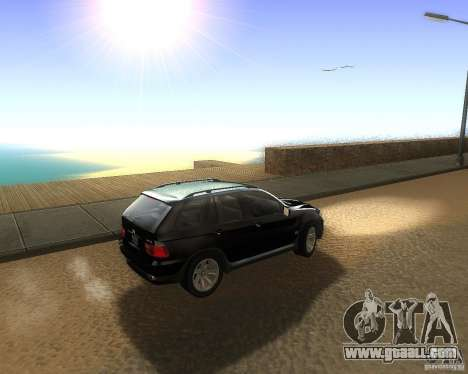 BMW X5 4.8 IS for GTA San Andreas left view