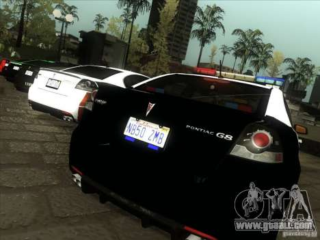 Pontiac G8 Police for GTA San Andreas right view