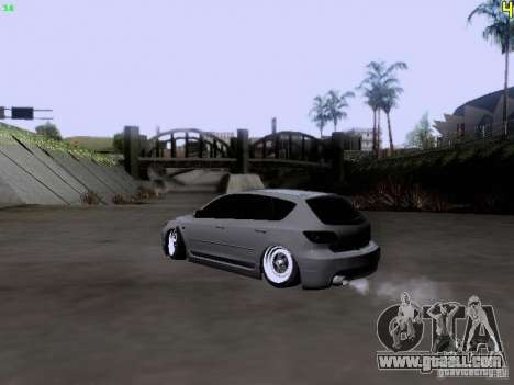 Mazda Speed 3 Stance for GTA San Andreas left view
