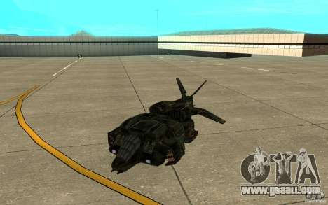 The shuttle from the game Aliens vs Predator 3 for GTA San Andreas left view