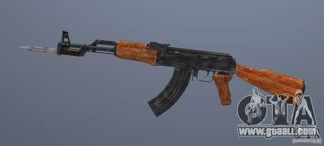 Ak 47 with Bayonet for GTA San Andreas second screenshot