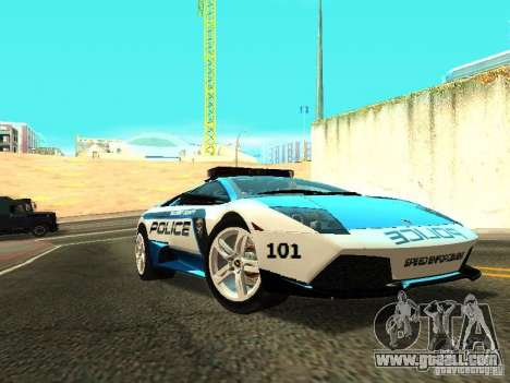 Lamborghini Murcielago LP640 Police V1.0 for GTA San Andreas back left view