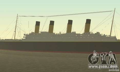 RMS Titanic for GTA San Andreas right view
