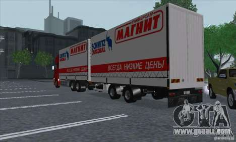 Scania R620 MAGNET for GTA San Andreas back view