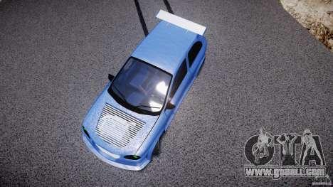 Chevrolet Corsa Extreme Revolution for GTA 4 bottom view