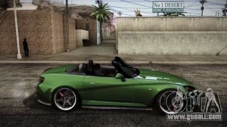 Honda S2000 HellaFlush for GTA San Andreas back left view