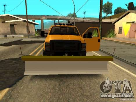 Ford Super Duty F-series for GTA San Andreas inner view