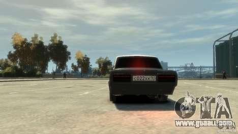 VAZ 2107 v3.0 for GTA 4 back view