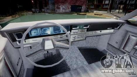 Chevrolet Impala 1983 v2.0 for GTA 4 back view