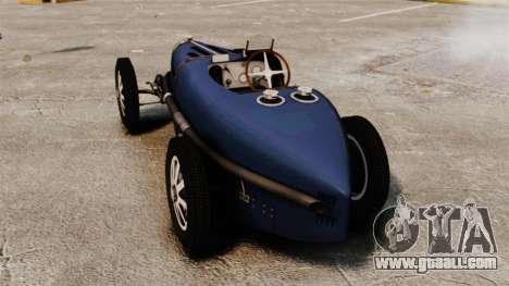 Bugatti Type 51 for GTA 4 back left view
