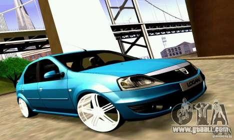 Dacia Logan 2008 for GTA San Andreas inner view
