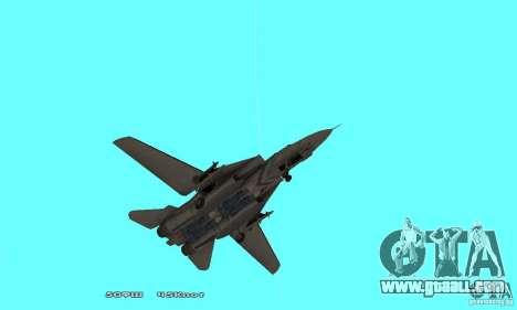 F14W Super Weirdest Tomcat Skin 1 for GTA San Andreas upper view