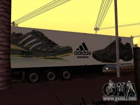 Trailer Adidas for GTA San Andreas back left view