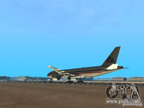 Boeing 777-200 American Airlines for GTA San Andreas back left view