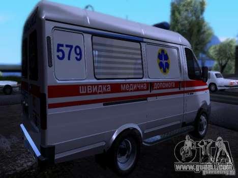 Gazelle 2705 ambulance for GTA San Andreas back left view