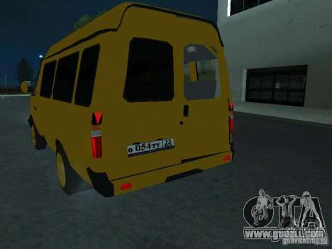 Gazelle taxi for GTA San Andreas inner view