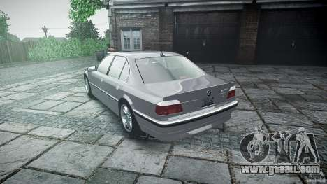 BMW 740i (E38) style 32 for GTA 4 upper view
