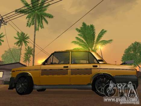 VAZ 2106 tuning Taxi for GTA San Andreas right view