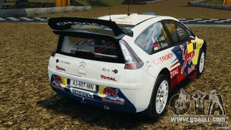Citroen C4 WRC for GTA 4 back left view