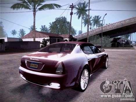 Maserati Quattroporte 2010 for GTA San Andreas inner view