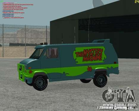 GMC Van 1983 for GTA San Andreas back left view