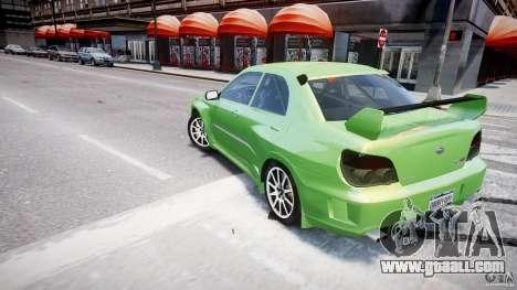 Subaru Impreza STI Wide Body for GTA 4 wheels