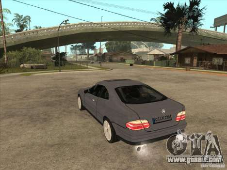 Mercedes-Benz CLK320 Coupe for GTA San Andreas back left view