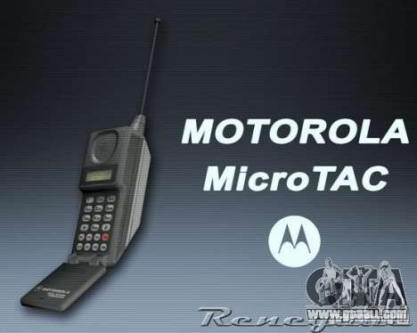 Motorola MicroTAC for GTA San Andreas