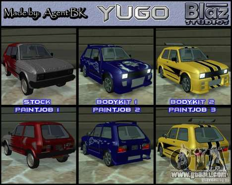 Yugo 45 Tuneable for GTA San Andreas