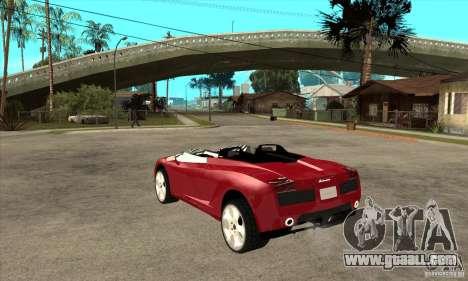 Lamborghini Concept S for GTA San Andreas back left view