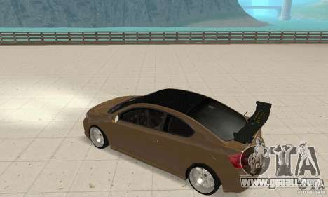 Toyota Scion tC Edited for GTA San Andreas right view