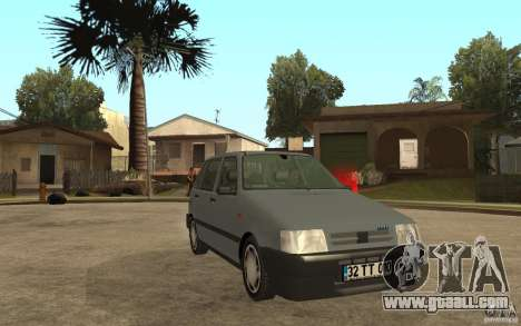 Fiat Uno 70s for GTA San Andreas back view