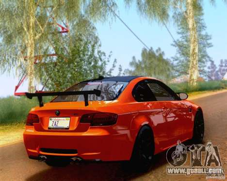 BMW M3 GT-S 2011 for GTA San Andreas left view