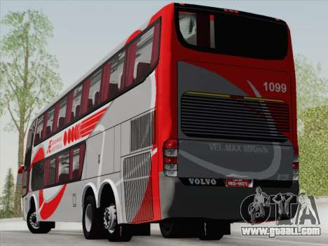 Marcopolo DD800 Volvo B12R for GTA San Andreas back left view
