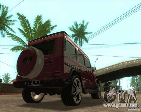 Mercedes Benz G500 A_R_T for GTA San Andreas back left view