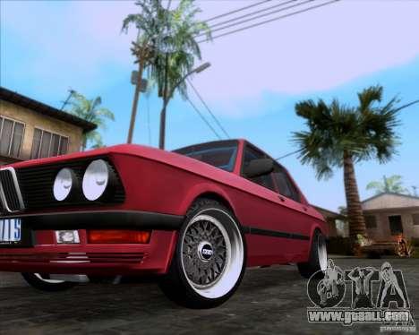 BMW 5-er E28 for GTA San Andreas upper view
