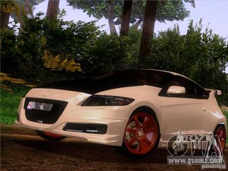Honda CR-Z Mugen 2011 V2.0 for GTA San Andreas back view