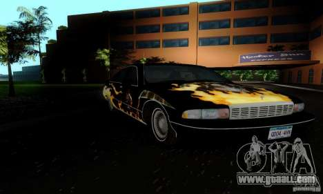 Chevrolet Caprice 1991 for GTA San Andreas back view