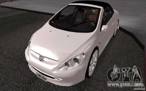 Peugeot 307CC BMS for GTA San Andreas back view