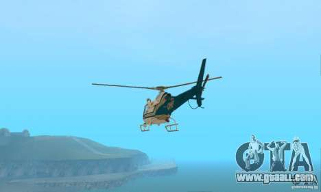 AS350 Ecureuil for GTA San Andreas back left view