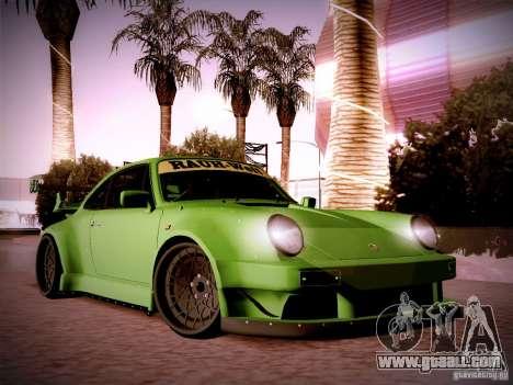 Porsche 911 Turbo RWB Pandora One for GTA San Andreas inner view