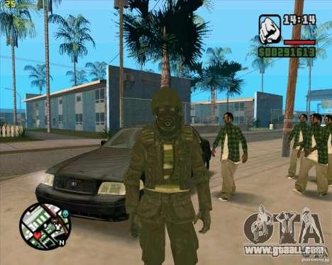Skin SAS for GTA San Andreas