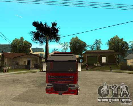 DAF XF 530 Fire for GTA San Andreas back view
