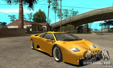 Lamborghini Diablo GT-R 1999 for GTA San Andreas back view