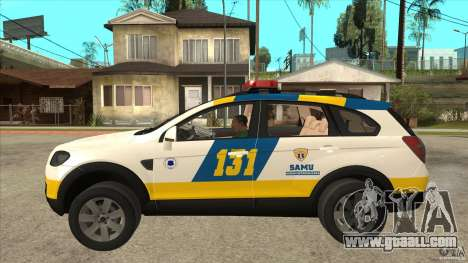 Chevrolet Captiva Police for GTA San Andreas left view