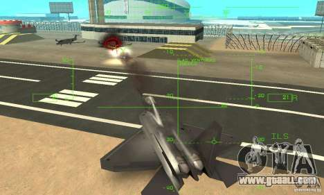 YF-22 Black for GTA San Andreas bottom view