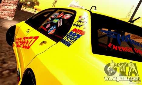 Mitsubishi Lancer Evolution VIII - ProSpeed for GTA San Andreas back left view