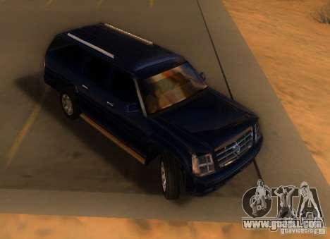 Cadillac Escalade ESV 2006 for GTA San Andreas left view